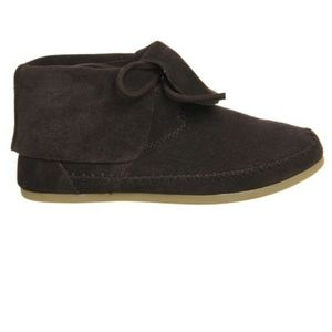 Toms Zahara chocolate brown suede booties